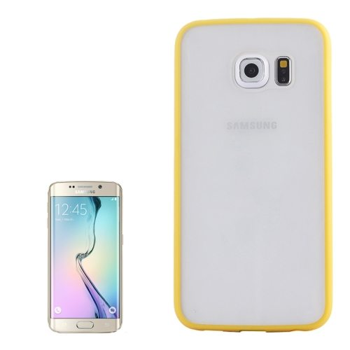 Anti-scratch Acrylic Material Transparent Back Shell Protective Case for Samsung Galaxy S6 Edge(Yellow)