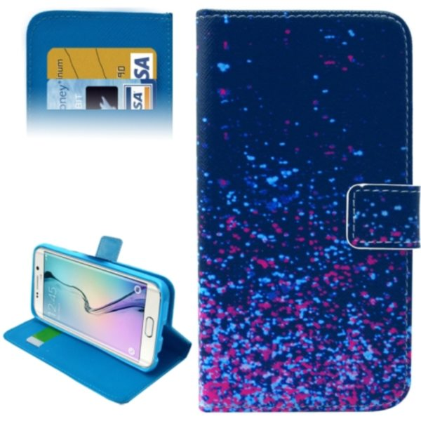 Leather Case for Samsung Galaxy S6 Edge / G9250 with Card Slots & Wallet (Starry Star Pattern)