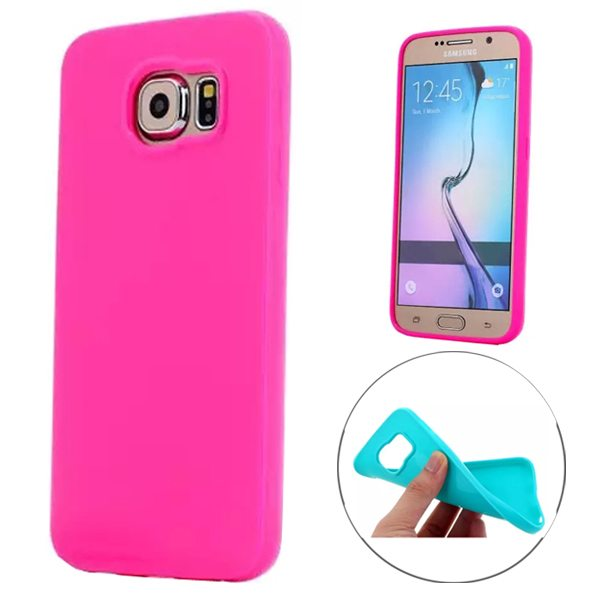 Fashion Style Solid Color Protection Soft TPU Case for Samsung Galaxy S6 Edge (Rose)