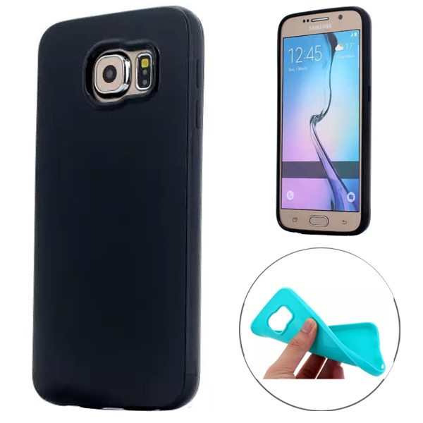 Fashion Style Solid Color Protection Soft TPU Case for Samsung Galaxy S6 Edge (Black)
