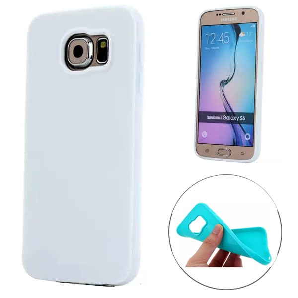 Fashion Style Solid Color Protection Soft TPU Case for Samsung Galaxy S6 Edge (White)