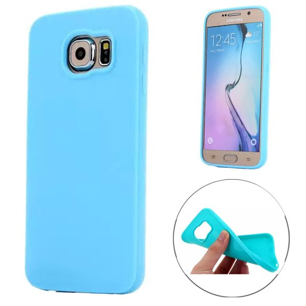 Fashion Style Solid Color Protection Soft TPU Case for Samsung Galaxy S6 Edge (Baby Blue)