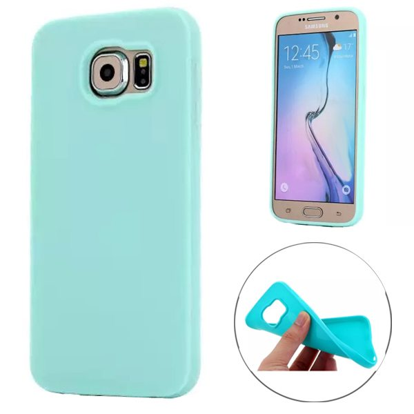 Fashion Style Solid Color Protection Soft TPU Case for Samsung Galaxy S6 Edge (Light Green)