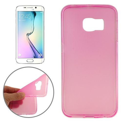 New Arrival  Translucent Frosted TPU Case for Samsung Galaxy S6 Edge (Pink)