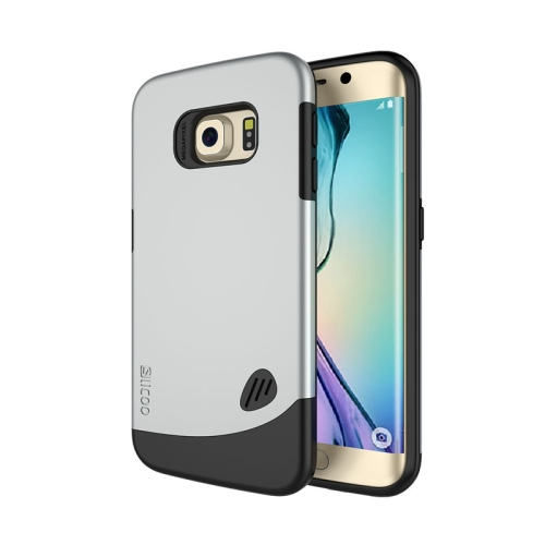 SLiCOO Unique Design 2 In 1 Pattern PC and TPU Hybrid Case for Samsung Galaxy S6 Edge (Silver)