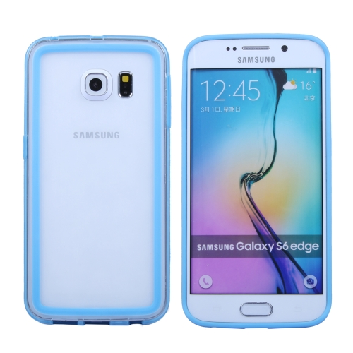 Transparent Bumper Frame Case for Samsung Galaxy S6 Edge (Baby Blue)
