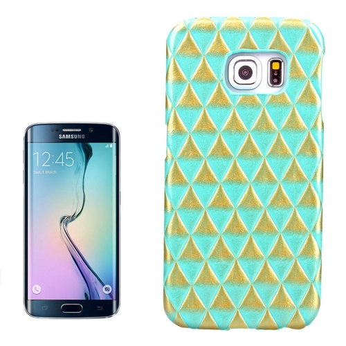 Hot Sales Diamond Pattern Protective Hard Case Cover for Samsung Galaxy S6 Edge (Green)