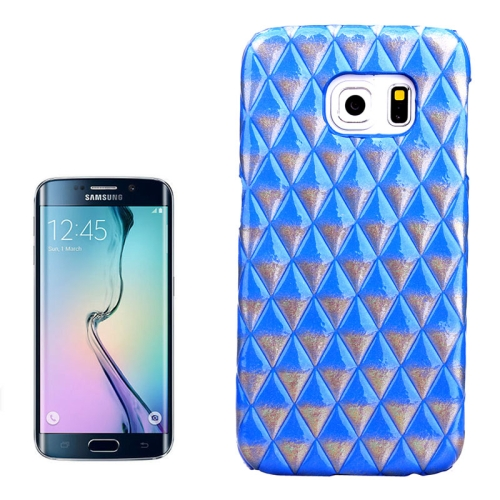 Hot Sales Diamond Pattern Protective Hard Case Cover for Samsung Galaxy S6 Edge (Blue)