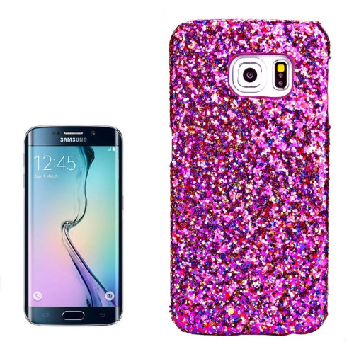 Shimmering Powder Pattern Protective Hard Case Cover for Samsung Galaxy S6 Edge (Purple)