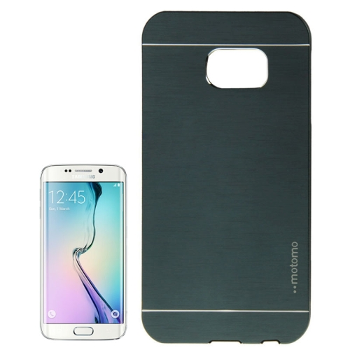 Brushed Texture Protective Case for Samsung Galaxy S6 edge (Army Green)