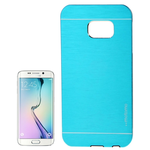 Brushed Texture Protective Case for Samsung Galaxy S6 edge (Blue)