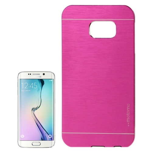 Brushed Texture Protective Case for Samsung Galaxy S6 edge (Rose)