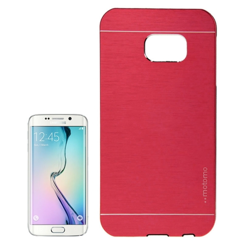 Brushed Texture Protective Case for Samsung Galaxy S6 edge (Red)
