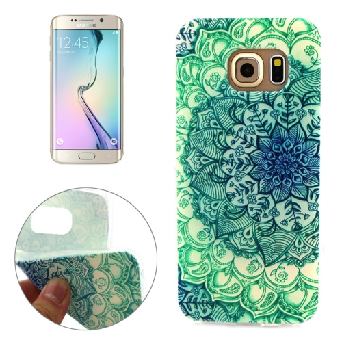 Soft TPU Protective Case for Samsung Galaxy S6 Edge (National Style Sunflower Pattern)