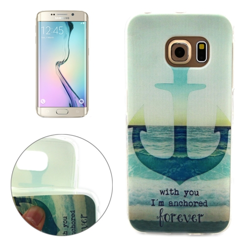 Soft TPU Protective Case for Samsung Galaxy S6 Edge (Anchor Pattern)