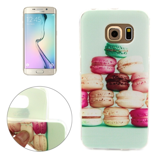 Soft TPU Protective Case for Samsung Galaxy S6 Edge (Macaron Pattern)