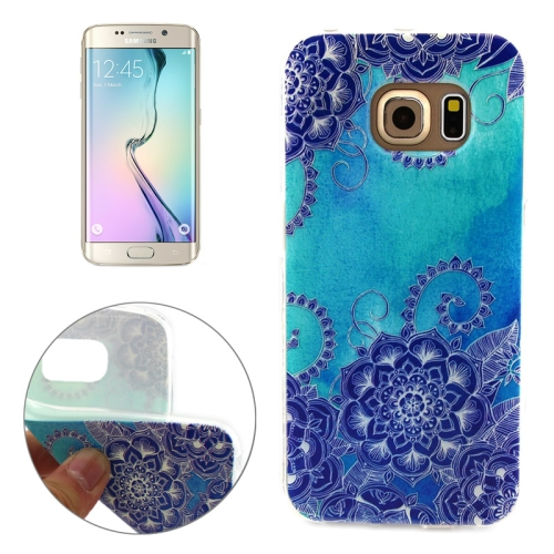 Soft TPU Protective Case for Samsung Galaxy S6 Edge (Flower Pattern)