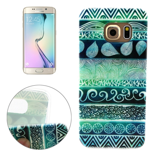 Soft TPU Protective Case for Samsung Galaxy S6 Edge (Retro Aztec Tribal Pattern)
