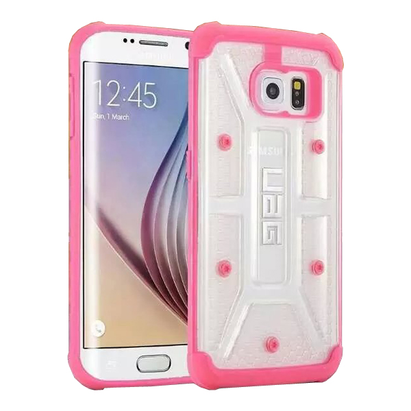 UAG Highly Transparent TPU + Matte PC Hybrid Case for Samsung Galaxy S6 Edge (Pink)