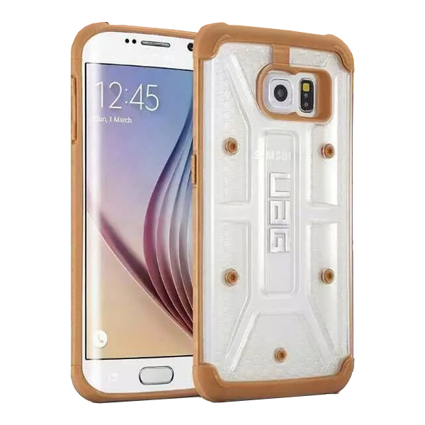 UAG Highly Transparent TPU + Matte PC Hybrid Case for Samsung Galaxy S6 Edge (Brown)