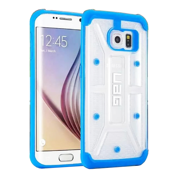UAG Highly Transparent TPU + Matte PC Hybrid Case for Samsung Galaxy S6 Edge (Blue)