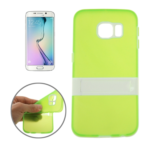 Solid Color Clear TPU Protective Case for Samsung Galaxy S6 Edge (Green)