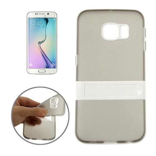 Solid Color Clear TPU Protective Case for Samsung Galaxy S6 Edge (Grey)