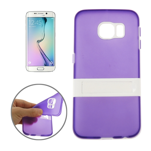 Solid Color Clear TPU Protective Case for Samsung Galaxy S6 Edge (Purple)