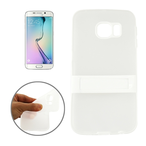 Solid Color Clear TPU Protective Case for Samsung Galaxy S6 Edge (White)