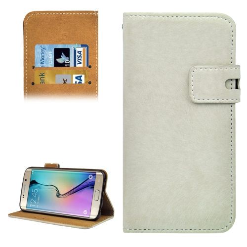 Angibabe Horizontal Flip Leather Case for Samsung Galaxy S6 Edge (White)