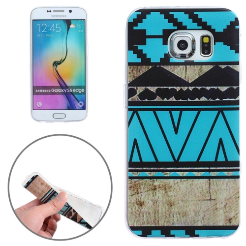 Creative Designs Ultrathin Transparent Frame Protective TPU Case for Samsung Galaxy S6 Edge (Geometric Pattern)