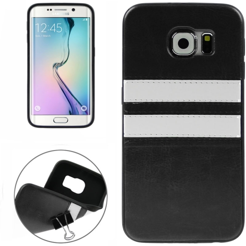 2015 Bulk Buy from China Leather Coated Soft TPU Case for Samsung Galaxy S6 Edge (Black)