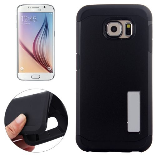 TPU and Hard Shockproof Hybrid Cover for Samsung Galaxy S6 Edge (Black)