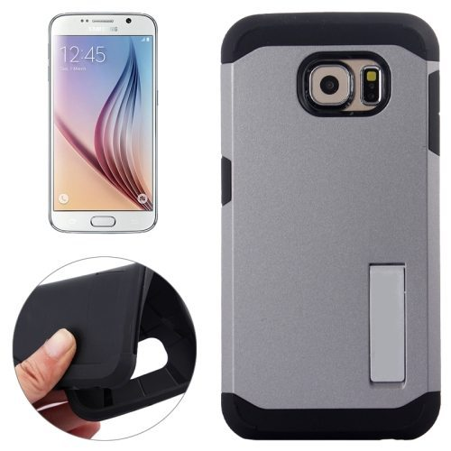 TPU and Hard Shockproof Hybrid Cover for Samsung Galaxy S6 Edge (Grey)