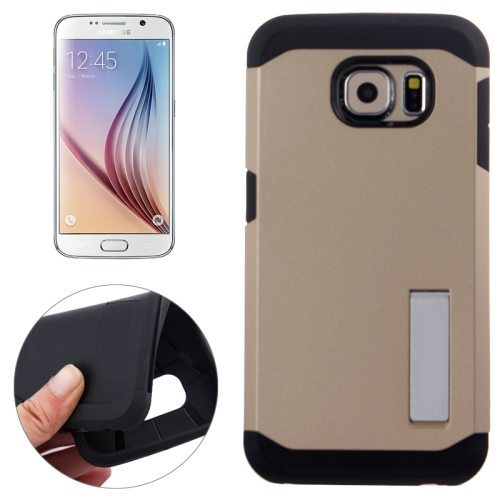 TPU and Hard Shockproof Hybrid Cover for Samsung Galaxy S6 Edge (Gold)