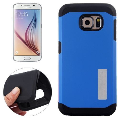 TPU and Hard Shockproof Hybrid Cover for Samsung Galaxy S6 Edge (Blue)