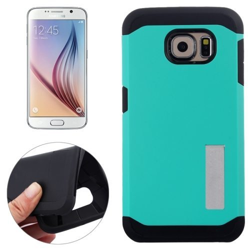 TPU and Hard Shockproof Hybrid Cover for Samsung Galaxy S6 Edge (Mint)
