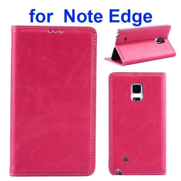 Retro Crazy Horse Texture Flip Genuine Leather Cover for Samsung Galaxy Note Edge (Rose)
