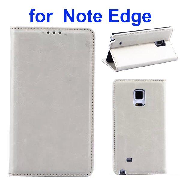Retro Crazy Horse Texture Flip Genuine Leather Cover for Samsung Galaxy Note Edge (White)