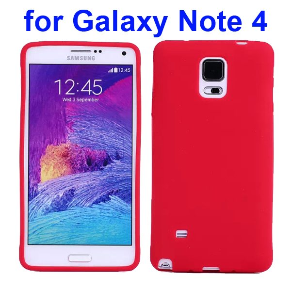 Smooth Surface Soft Silicone Case for Samsung Galaxy Note 4 (Red)