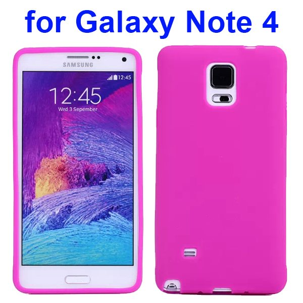 Smooth Surface Soft Silicone Case for Samsung Galaxy Note 4 (Rose)