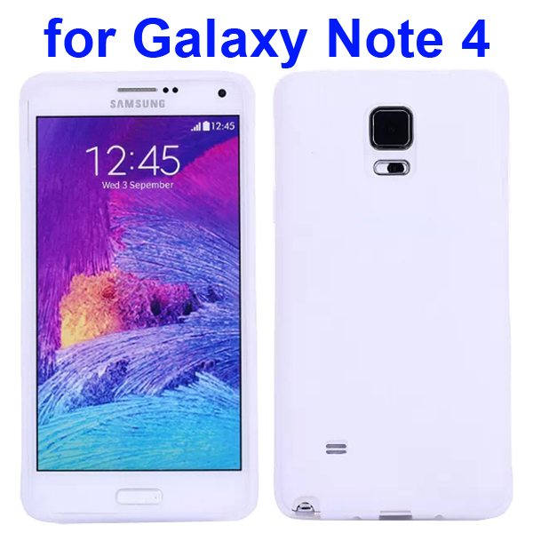 Smooth Surface Soft Silicone Case for Samsung Galaxy Note 4 (White)