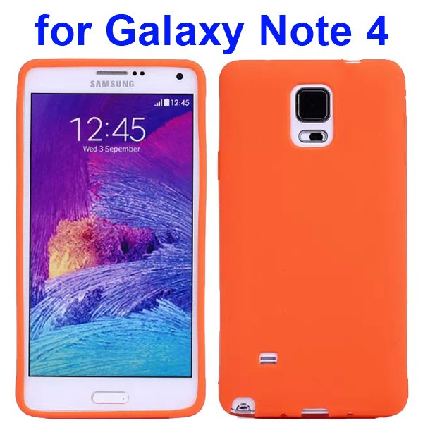 Smooth Surface Soft Silicone Case for Samsung Galaxy Note 4 (Orange)