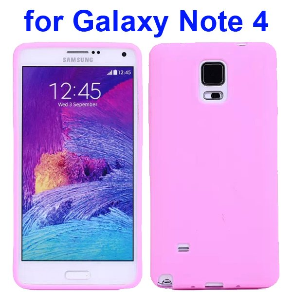 Smooth Surface Soft Silicone Case for Samsung Galaxy Note 4 (Pink)