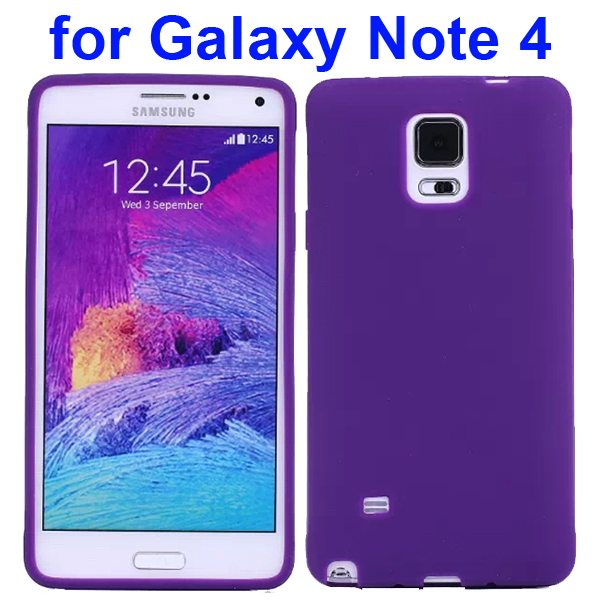 Smooth Surface Soft Silicone Case for Samsung Galaxy Note 4 (Purple)