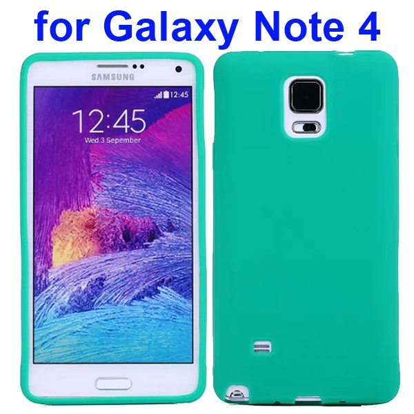 Smooth Surface Soft Silicone Case for Samsung Galaxy Note 4 (Green)