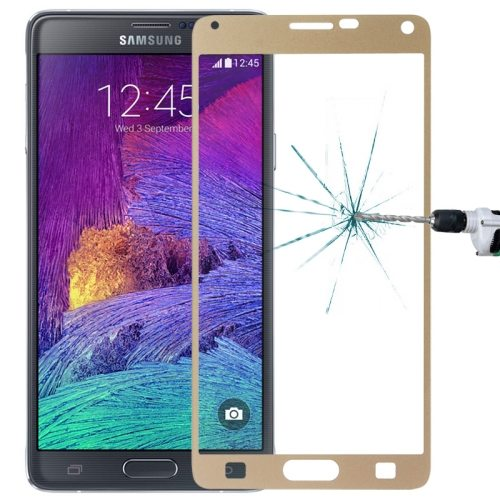 LOPURS 0.3mm Explosion-proof Full Screen Tempered Glass Screen Protector for Samsung Galaxy Note 4 (Gold)