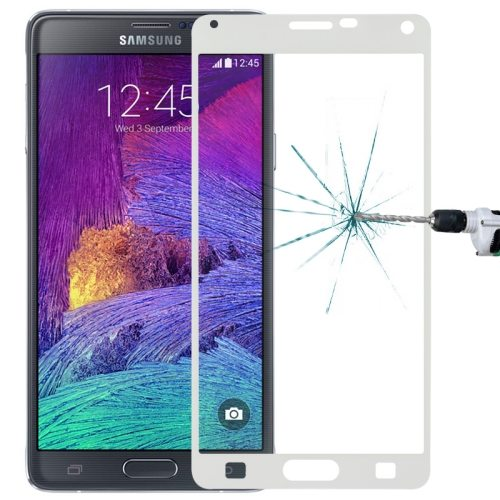 LOPURS 0.3mm Explosion-proof Full Screen Tempered Glass Screen Protector for Samsung Galaxy Note 4 (White)