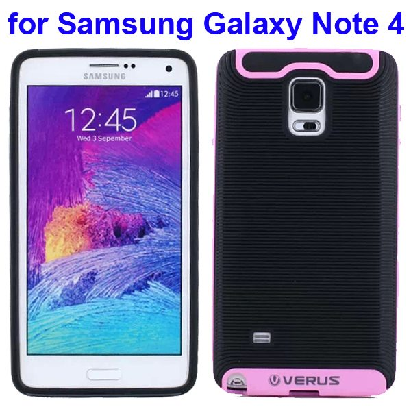 Verus Brand Soft TPU and Hard Protective Hybrid Case for Samsung Galaxy Note 4 (Pink)