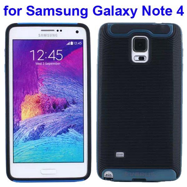 Verus Brand Soft TPU and Hard Protective Hybrid Case for Samsung Galaxy Note 4 (Dark Blue)